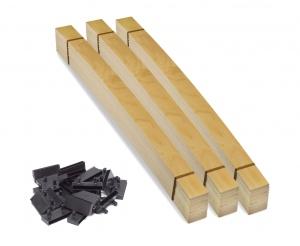 Комплект ламелей для двуспальной кровати 180х200 с центральными держателями для металлической рамы