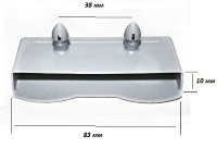 Латодержатель двухштырьевой для ламелей 83 мм